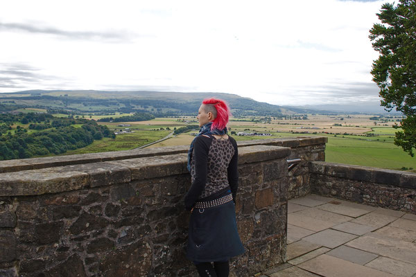 Urlaub in Schottland Teil 1 - Stirling Castle Landschaft - Zebraspider DIY Anti-Fashion Blog