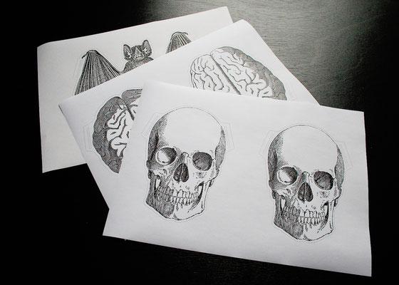 Halloween DIYs Part 2 - vintage look paper garland printouts - Zebraspider Eco Anti-Fashion