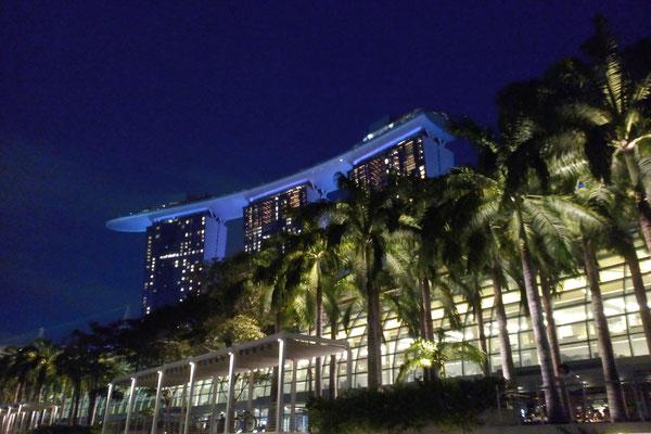 Genähte Kleinigkeit und große Reise - Singapur Bayfront bei Nacht - Zebraspider DIY Anti-Fashion Blog