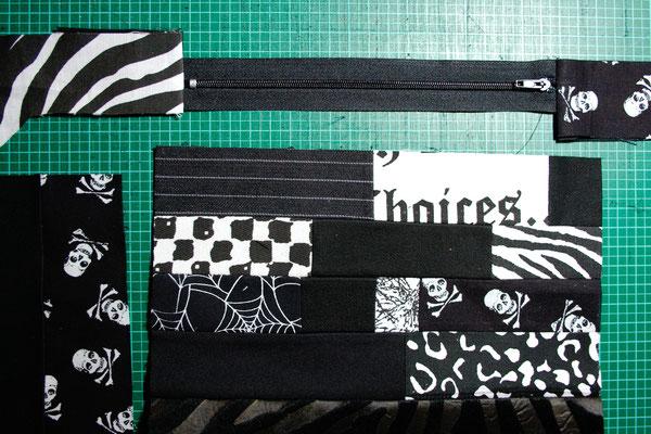 Punk Patchwork - Tasche nähen - Zebraspider DIY Blog
