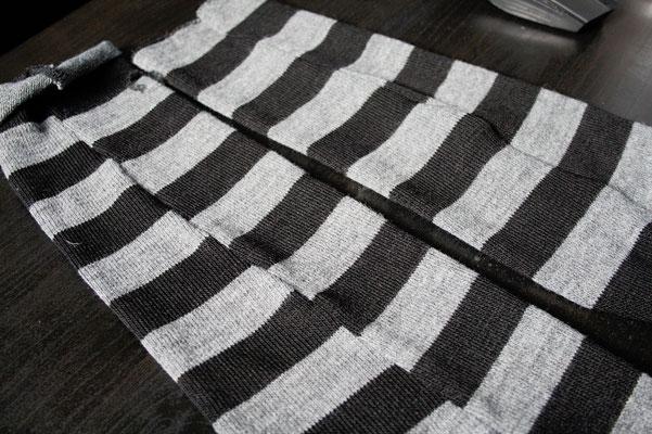 Schnell genähte Strickjacke - Streifen schief - Zebraspider DIY Anti-Fashion Blog