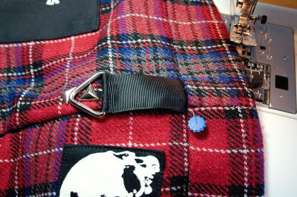 Punk Shorts die 2. der ich trau mich - Band nähen - Zebraspider DIY Blog