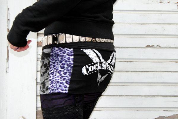 Nähen ist wie zaubern können - Auftrag Rock Leo lila  - Zebraspider DIY Anti-Fashion Blog