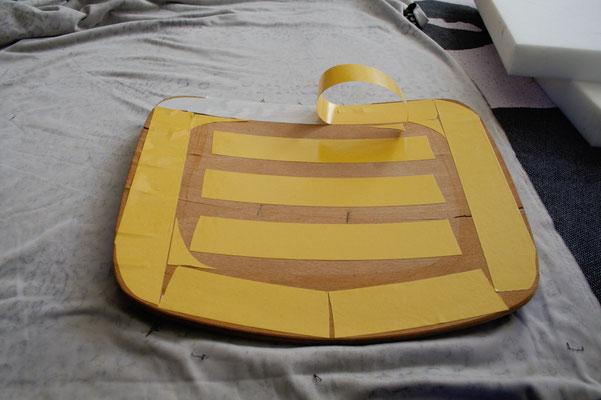 Leo-/Zebrafellstühle - Sitzfläche bekleben - Zebraspider DIY Blog