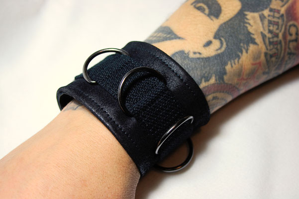Kunstleder Armband Black Steel - Zebraspider DIY Anti-Fashion Blog