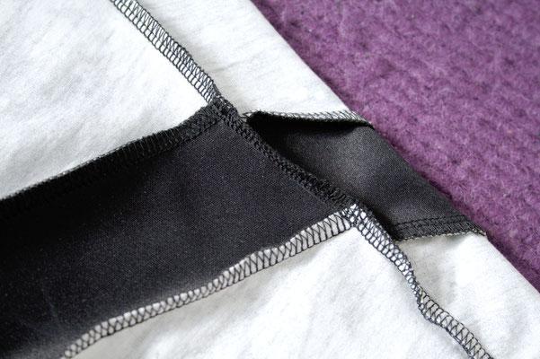 Mary, the Swirl Leggings (pattern testing) - fitting stripe inside - Zebraspider Eco Anti-Fashion Blog