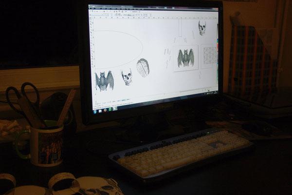 Halloween Papiergirlande - entwerfen - Zebraspider DIY Blog