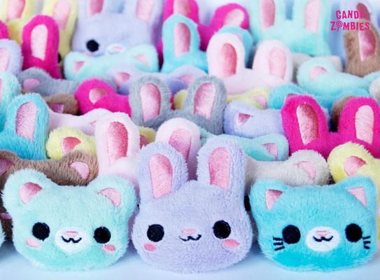 Candy Zombies - plüschige Haarspange Bunny Katze Teddy - Zebraspider DIY Blog