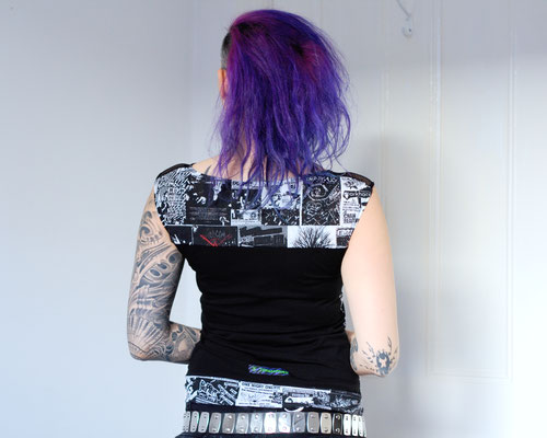 Tank, Batwing and Longsleeve - new Tops in the Shop - Flyers and Fishnet - Zebraspider DIY Anti-Fashion Blog