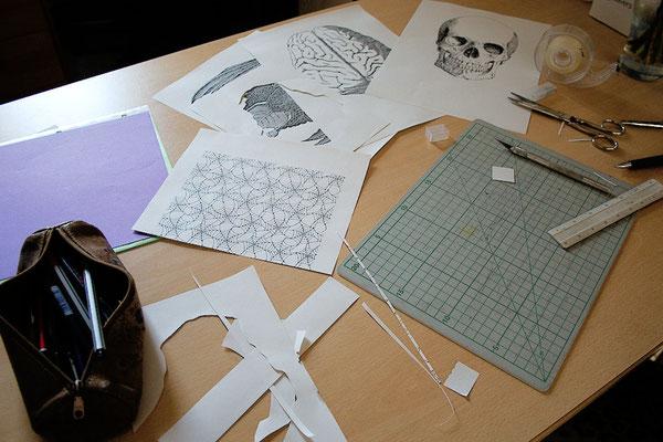 Halloween Papiergirlande - austüfteln - Zebraspider DIY Blog