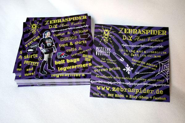 Warum Zebraspider immer grüner wird - Flyer aus Recyclingpapier - Zebraspider DIY Anti-Fashion Blog