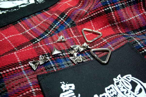 Punk Shorts die 2. der ich trau mich - TNieten und Ringe - Zebraspider DIY Blog
