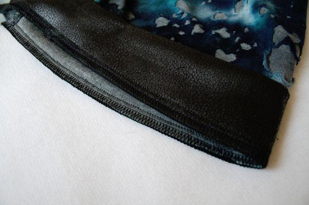 Fetzen-Minirock aus neuen Stoffen - Naht von innen - Zebraspider DIY Blog