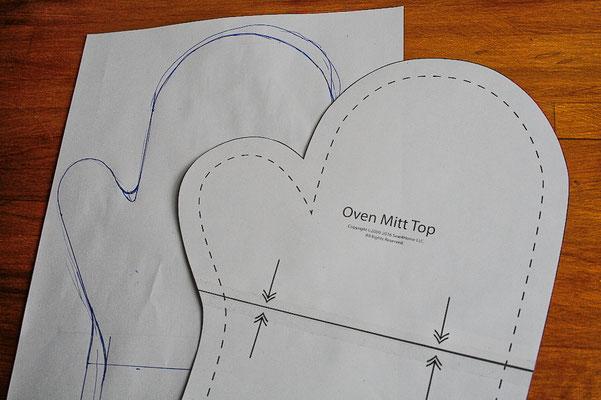 Ofenhandschuhe und Topflappen mal anders - Schnittmuster - Zebraspider DIY Blog
