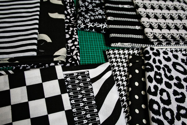 Ofenhandschuhe und Topflappen mal anders - schwarz/weiße Stoffe - Zebraspider DIY Blog