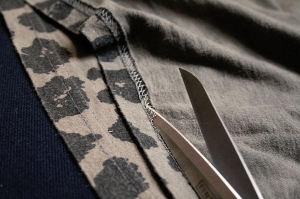Zweites Leben für den Leopard - Saum auftrennen - Zebraspider DIY Anti-Fashion Blog