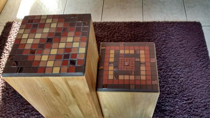 Mosaik Holzstele
