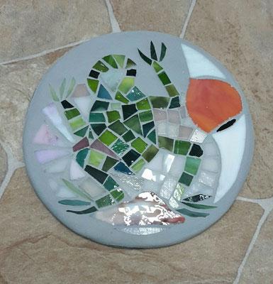 Mosaik Untersetzer aus Glas