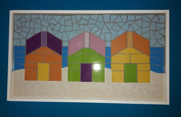 Mosaik Karibische Häuschen