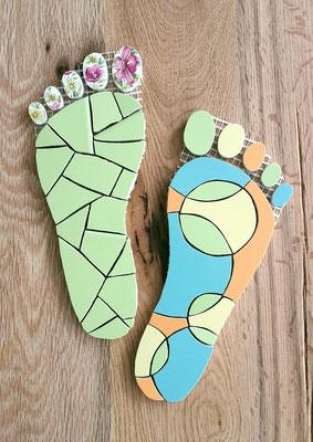 Mosaik Füße