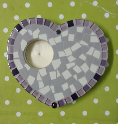 Mosaik Teelichthalter Herz