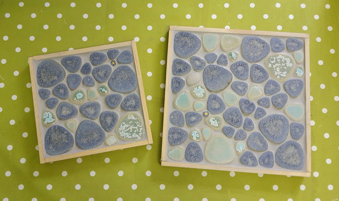 Mosaikuntersetzer aus Pepples