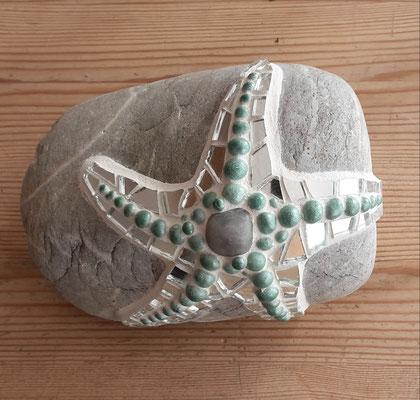 Mosaik Seestern auf Stein