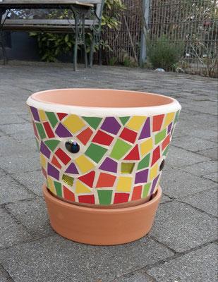 Mosaik Blumentopf