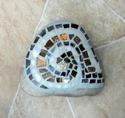 Mosaikschnecke auf Stein