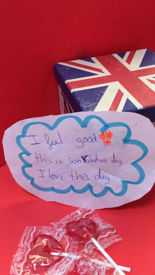 """I feel good this is St. Valentine´s Day, I love this day"""" María de Cambridge."""