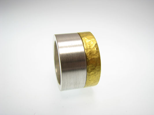 Ring in Silber mit Feingold