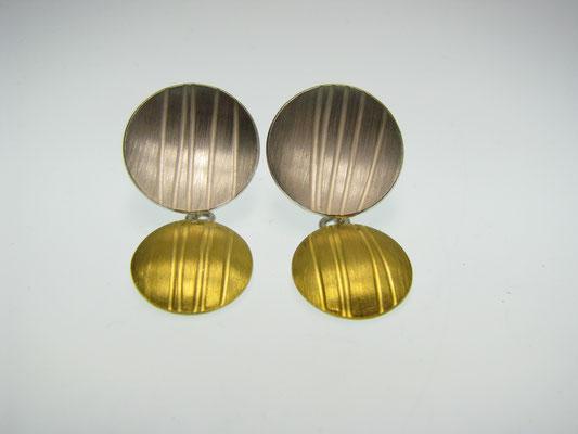 Ohrringe Silber und Feingold