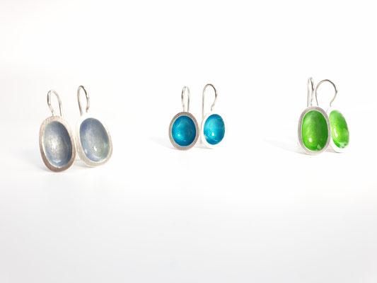 Ohrringe Silber mit Emaille