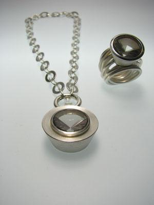Anhänger Silber mit Ruachquarz und Palladium