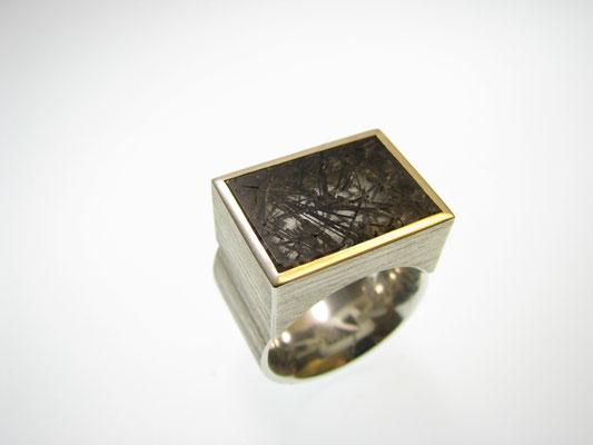 Ring in Silber mit Rutilquarz