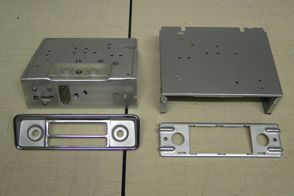 Polierte bzw. neu lackierte Teile