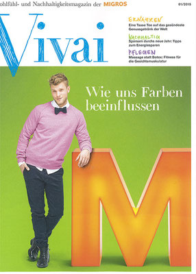 Migros VIVAI Magazin Cover Thomas Odermatt Model Luzern