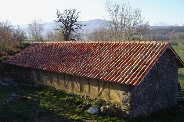 Colombages (face nord) de la salle d'activités