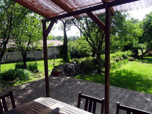 La terrasse à l'ouest