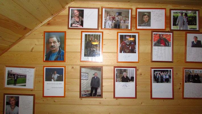 автографы знаменитых гостей