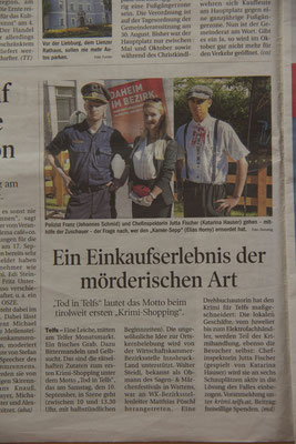 """Tod in Telfs"" // Tiroler Tageszeitung (26. August 2016)"