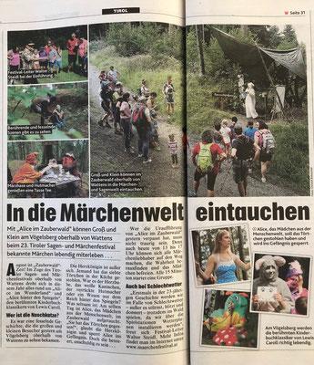 Kronen Zeitung // Tiroler Krone // Ausgabe Nr. 21.319 vom Sonntag, den 25.08.2019