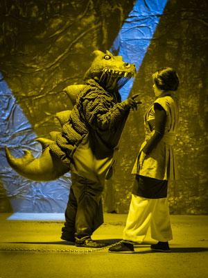 """""""Jim Knopf und Lukas der Lokomotivführer"""" // Tiroler Landestheater Spielzeit 2019.20 // Foto © Rupert Larl 2019"""