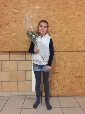 Sara, Siegerin des Sponsorenlaufs