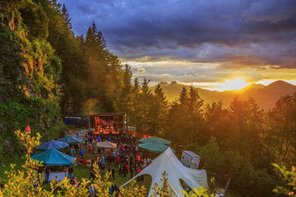 Sunset @ STOABEATZ Festival Walchsee Tirol
