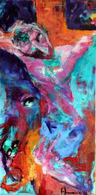 """Decision""  |  120x60 cm  |  Acryl op linnen"
