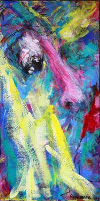 """Gelukkig""  |  100x50 cm  |  Acryl op linnen"