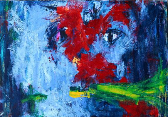 """Begin""  |  100x70 cm  |  Acryl op linnen"