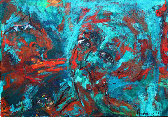 """You're right""  |  100x70 cm  |  Acryl op linnen"