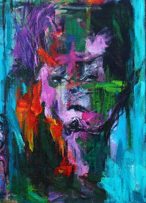 """The Sun""  |  50x70 cm  |  Acryl op linnen"
